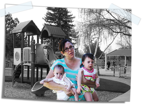 Antonia and her children at the park.