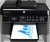 HP printer printing the RFENC logo