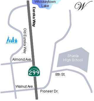 Map to RFENC's Redding office